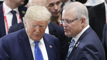 The announcement by US President Donald Trump, pictured with Prime Minister Scott Morrison at G20 last month, is good news for Australian uranium producers.