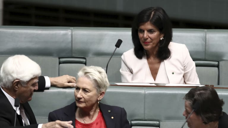Julia Banks sat on the crossbench on Wednesday.