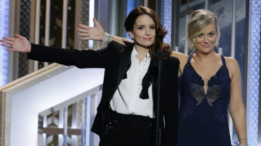 Tina Fey and Amy Poehler have hosted the Golden Globe Awards three times previously.