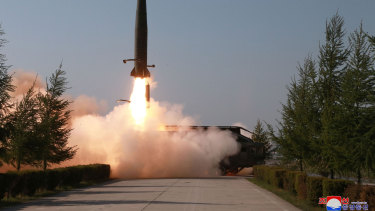 North Korea fired two suspected short-range missiles towards the sea in May 2019.
