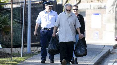 Michael Guider leaves Long Bay prison on Thursday.