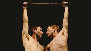 Jesse Scott (left) and Lachlan McAulay  in 'You & I' at Gasworks