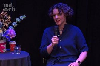 Adele Schonhardt, co-director of Melbourne Digital Concert Hall at the Knowledge Week panel