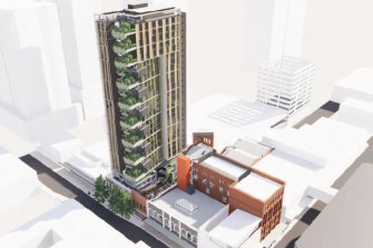 A render of the completed two-stage development now before the council.