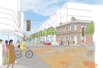 The proposal would raise building heights at the Redfern end of Botany Road, opposite the future Metro station.