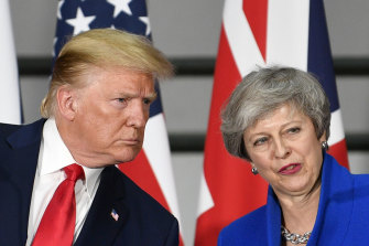 US President Donald Trump and then British Prime Minister Theresa May.