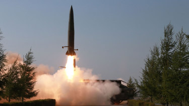 North Korea fired two suspected short-range missiles towards the sea on Thursday.
