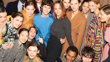 Sustainable trailblazer ... Stella McCartney and models.