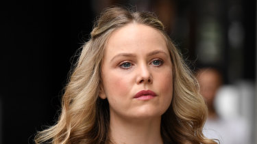 Eryn Jean Norvill arrives at the Federal Court on Friday.