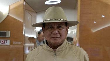 Unsuccessful candidate Prabowo Subianto.