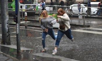 Rainy Melbourne in April.