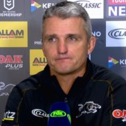 Ivan Cleary addresses the media after the Penrith Panthers clash against the Warriors in Round 10.