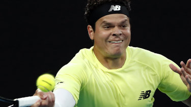 Milos Raonic could not break the Djokovic serve.