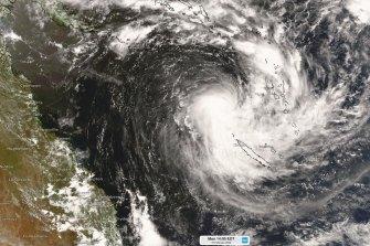Tropical Cyclone Uesi has formed west of Vanuatu and could track toward the eastern Australian coastline.