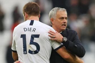 Jose Mourinho, right, is making headlines at Tottenham.