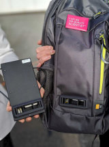 London mayor Sadiq Khan has unveiled backpacks fitted with a battery and Dyson air sensor that schoolchildren will carry to measure air pollution.