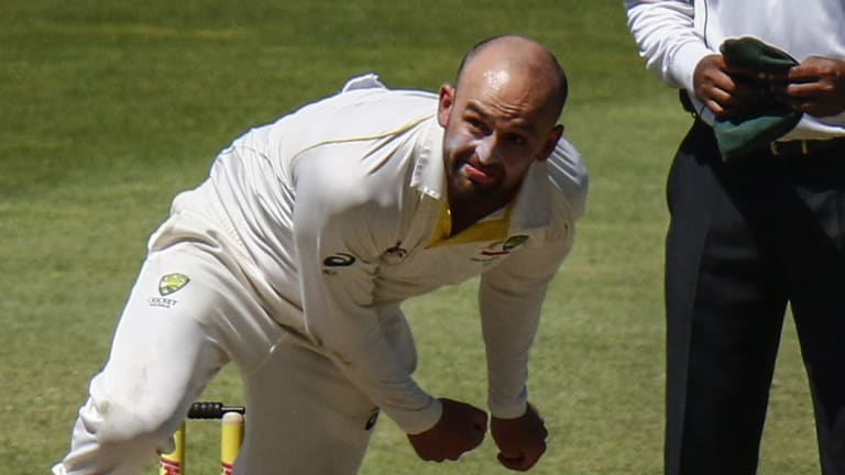 Nathan Lyon took five of Australia's six wickets.