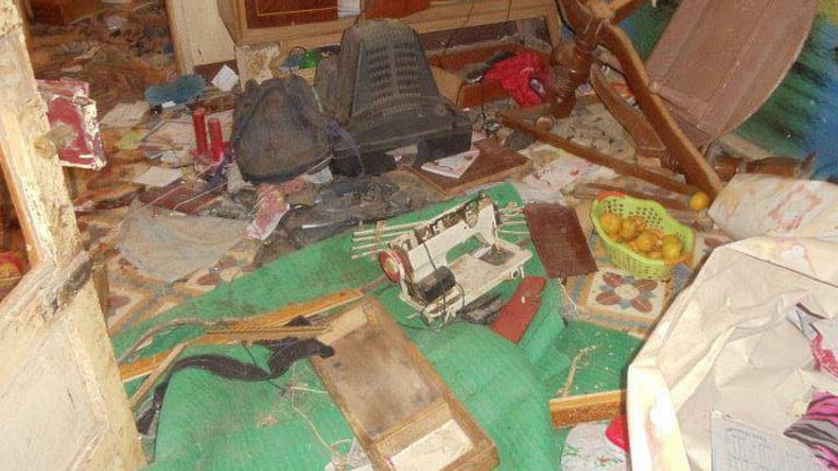 The house in Al Gharizat, Egypt, where two men were killed by Muslim extremists in November 2011.