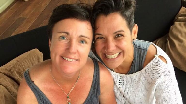 Shelley Hill (left) and Mel Wilson have been friends for more than 20 years.