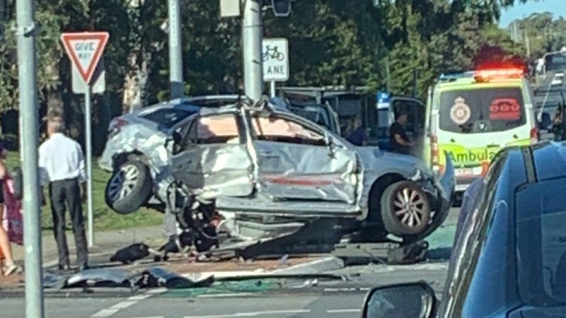One dead, five injured in two-car smash north of Brisbane
