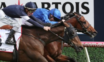 Best Solution wins the Caulfield Cup ahead of Homesman last year. The race is facing direct competition from The Everest.