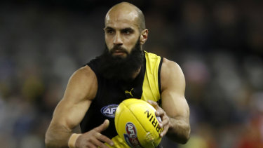 Star Richmond defender Bachar Houli in action against the Suns.