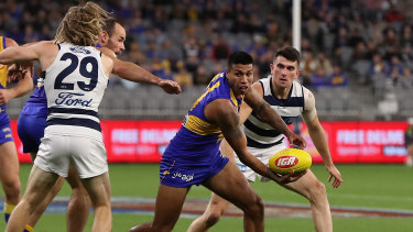 Happy returns: West Coast's Tim Kelly in action against his former teammates.