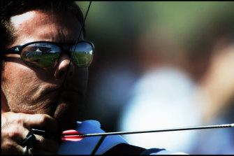 Simon Fairweather takes aim at the Sydney Olympics.