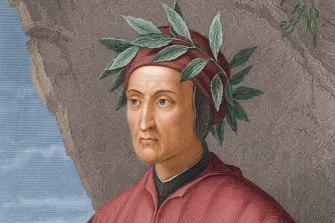 A portrait of Italian poet, politician and author Dante Alighieri (1265 - 1321).