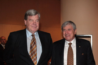 David Leckie and Kerry Stokes at a Seven AGM.