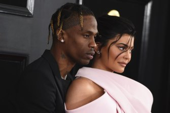 Travis Scott, left, and Kylie Jenner are parents to daughter Stormi.