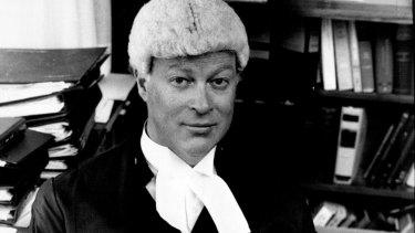 Justice David Hunt at the Supreme Court on April 30, 1980.