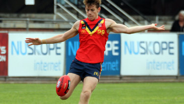 Kaine Baldwin in action for South Australia.