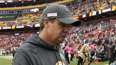 Jay Gruden leaves the field after what proved his last game as Washington coach, Sunday's loss to New England.