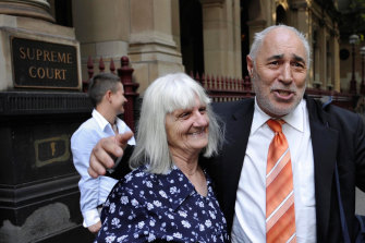 Phil Cleary and mother Lorna outside the Supreme Court in 2010.