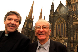 George Pell in 1996 when he was named as successor to Melbourne archbishop Frank Little.