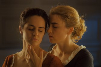 Noemie Merlant and Adele Haenel in Portrait of a Lady on Fire.