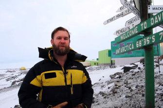 David Knoff, station leader, Davis Station, Australian Antarctic Division.