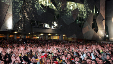 The 2006 World Cup match between Australia and Brazil drew thousands of football fans to Federation Square in the wee hours.