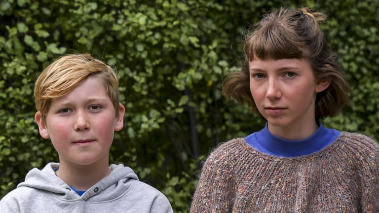 Callum Neilson-Bridgefoot (left) and Tully Boyle, Castlemaine students who helped set off an Australian campaign.