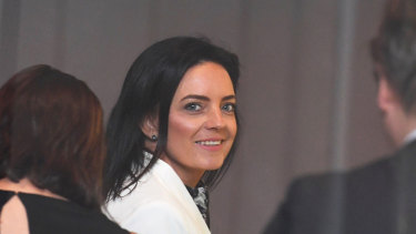 Emma Husar arrives at the Federal Court in Sydney on Friday.
