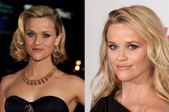 Reese Witherspoon's contribution to the Ten Year Challenge.