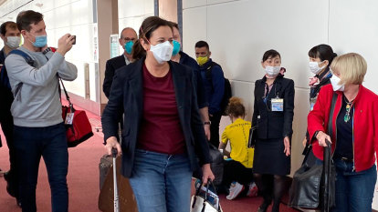 Palaszczuk arrives in Tokyo to make final pitch for 2032 Olympics