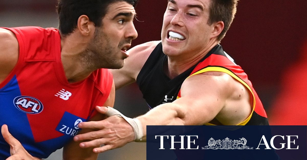 Melbourne in the eight for now as they dismantle Essendon – The Age