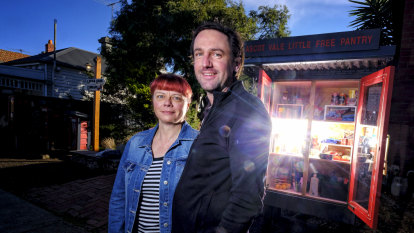 Free to a good home: Roadside pantry feeding neighbours in Ascot Vale