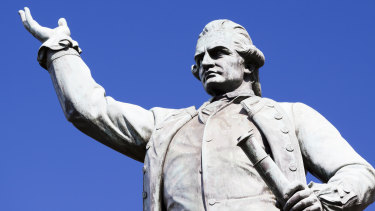 The statue of Captain James Cook in Hyde Park was created by sculptor Thomas Woolner in 1879.