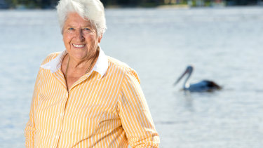 Australia swimming legend Dawn Fraser.
