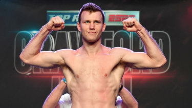 Champion underdog: Jeff Horn finally makes weight on the eve of his fight against Terence Crawford.
