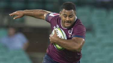 Speaking out: Reds Taniela Tupou voiced his support for Israel Folou on Facebook.