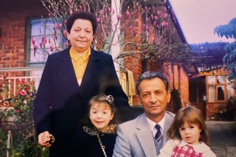 Peter and Maria Vasilakis with their grandchildren Stephanie and Natalia.